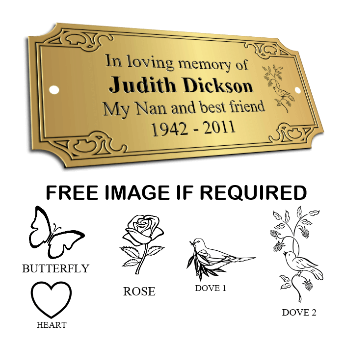Ornate Bench Memorial plaques